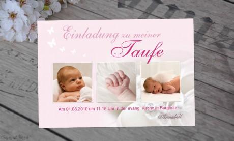 Fotokarten Taufe
