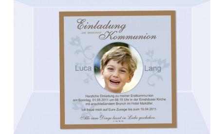 Einladung Kommunion / Konfirmation, Fotokarte 12,5x12,5 cm