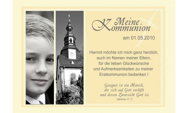 Danksagung Kommunion / Konfirmation, Fotokarte 10x15 cm, gelb