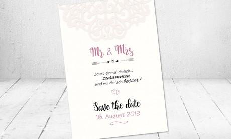 Save the date Karten Hochzeit Vintage Einladungskarten