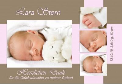 danksagung geburt geburtskarte fotokarte babykarte. Black Bedroom Furniture Sets. Home Design Ideas