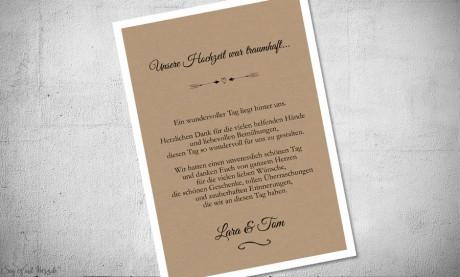 Dankeskarte Hochzeit Vintage Postkarte