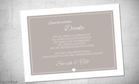 Text Danksagungskarten Hochzeit rosa weiß