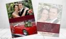 Dankeskarten Hochzeit Foto rot
