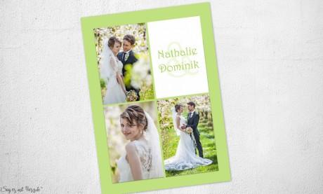 Danksagungskarten Hochzeit Foto grün