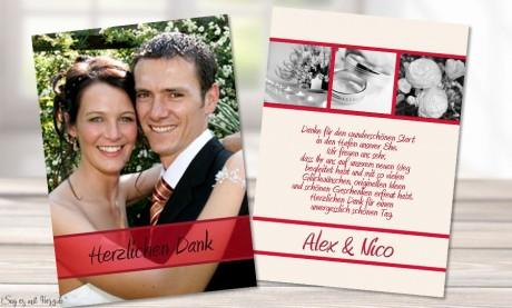 Danksagungskarte, Karte Hochzeit