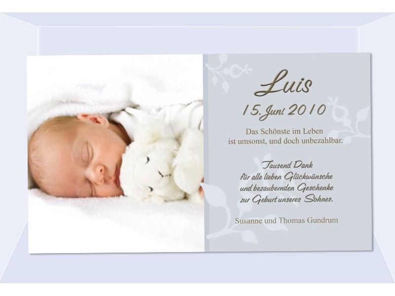 Danksagung Geburt, Geburtskarte, Fotokarte, Babykarte