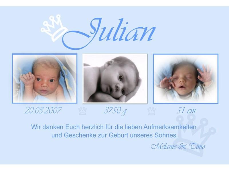 Ganz und zu Extrem Danksagung Geburt, Geburtskarte, Fotokarte, Babykarte, hellblau #LO_85