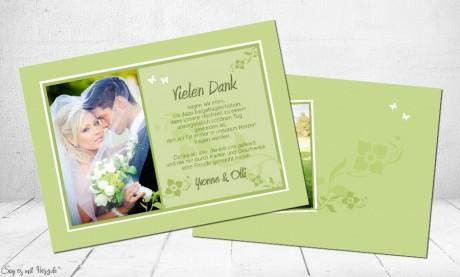 Danksagung Hochzeit Blumen