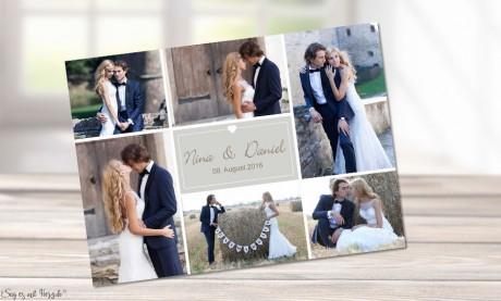 Dankeskarten Hochzeit Rosa