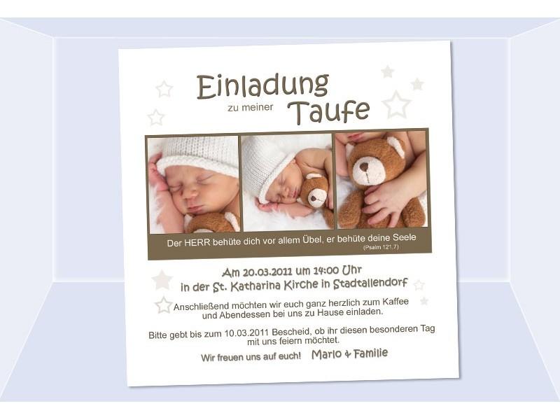 einladung taufe, taufeinladung, fotokarte 12,5x12,5 cm, beige, Einladungsentwurf