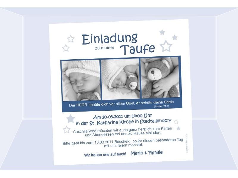 Einladung Taufe, Taufeinladung, Fotokarte 12,5x12,5 cm, beige