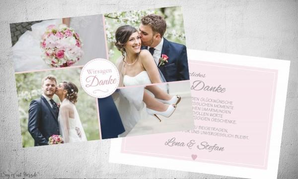 Danksagung Hochzeit Fotocollage