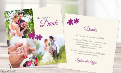 Dankeskarte Hochzeit Puzzle
