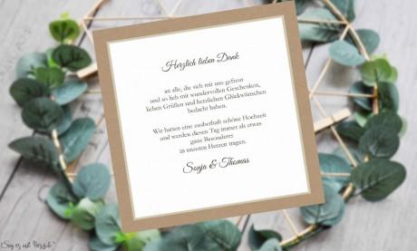 Dankeskarten Hochzeit quadratisch Vintage