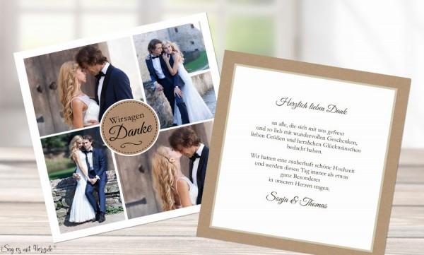 Danksagungskarten Hochzeit natürlich