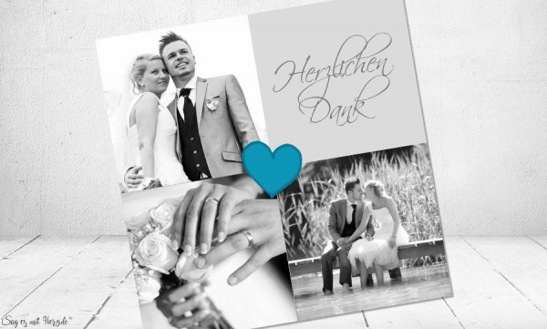 Dankeskarte Hochzeit kreativ
