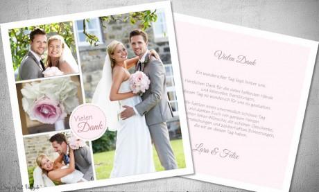 Danksagung Hochzeit viele Fotos