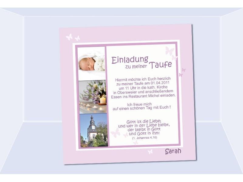 einladungskarte taufe text – cloudhash, Einladungsentwurf