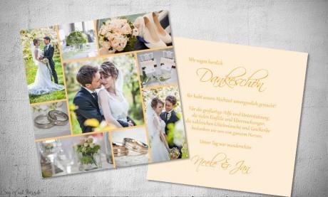 Fotokarten Hochzeit Danksagung
