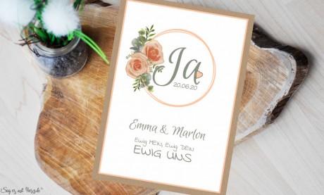 Einladungskarten Hochzeit Vintage boho