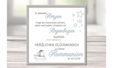 Geschenk Konfirmation Wandbild Leinwand personalisiert