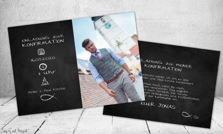 Einladungskarten Kommunion Konfirmation mit Foto
