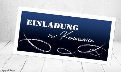 Einladungskarten Kommunion Konfirmation Fisch