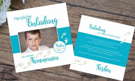 Einladungskarten Kommunion Konfirmation Spuren