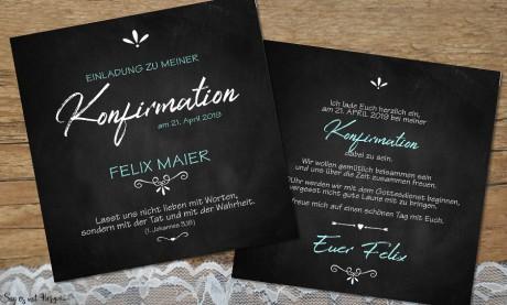 Einladungskarten Kommunion Konfirmation ohne Foto
