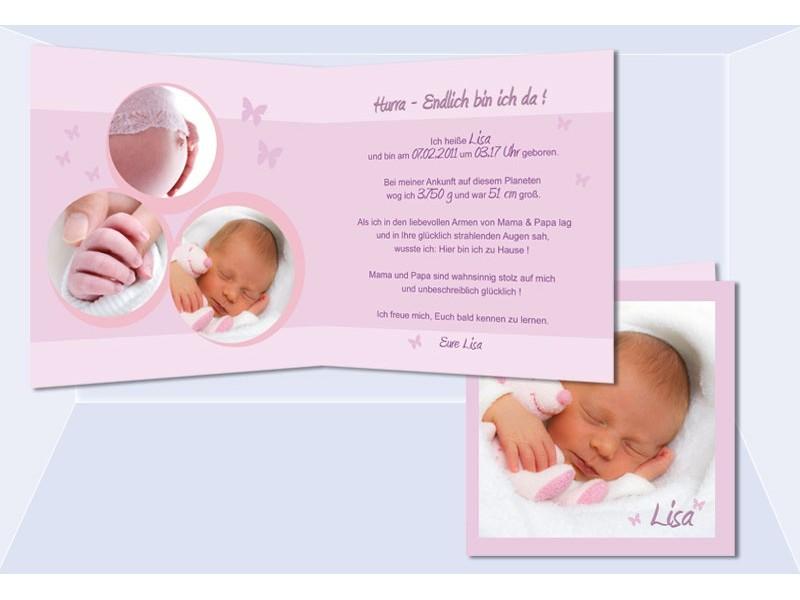 Geburtsanzeige, Geburtskarte, Babykarte, Karte Geburt, Fotokarte