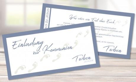 Einladungskarten Konfirmation Kommunion Fische