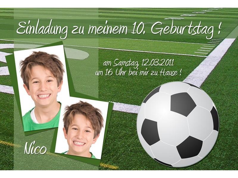 """Einladung Kindergeburtstag """"Fußball"""", Fotokarte 10x15 cm"""