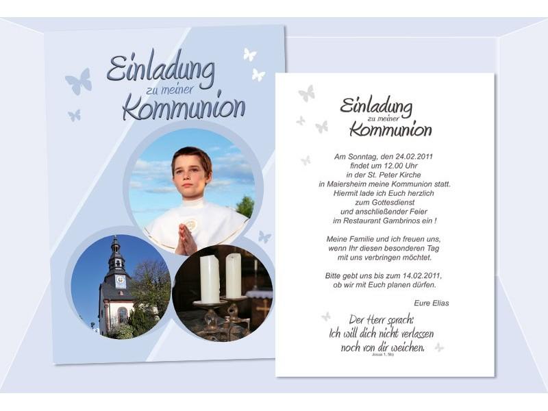 Einladung Kommunion / Konfirmation, Einladungskarte, Postkarte ...