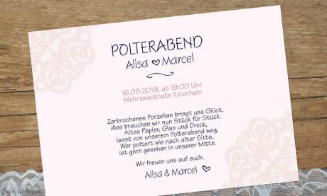 Einladung Hochzeit Polterabend