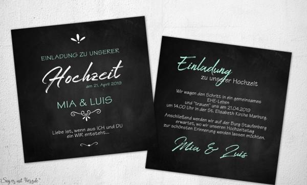 Einladungskarten Hochzeit modern