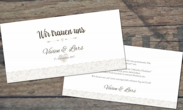 Einladungskarten Hochzeit Vintage