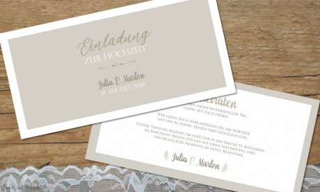 Einladungskarten Hochzeit...