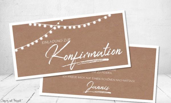 Einladungskarten Konfirmation Vintage