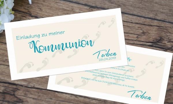 Einladungskarten zur Kommunion Weg zu Gott