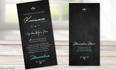 Einladungskarten Konfirmation modern