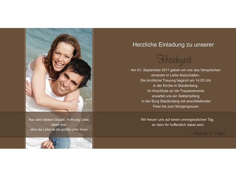 Hochzeitskarte, Hochzeitseinladung, Einladung Hochzeit ...