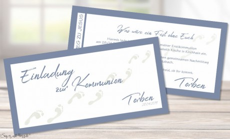 Einladungskarten Kommunion