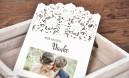 Dankeskarten Hochzeit Lasercut Spitze mit Foto