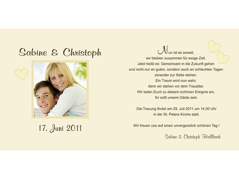 Hochzeitskarte, Hochzeitseinladung, Einladung Hochzeit, Einladungskarten, braun creme