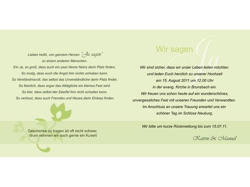 ... , Hochzeitseinladung, Einladung Hochzeit, Einladungskarten, grün