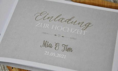 Einladungskarten Hochzeit Vintage edel