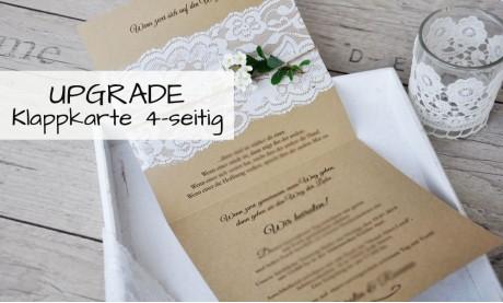 Einladungskarten Hochzeit Spitze Lasercut Kraftpapier Vintage diy Klappkarte