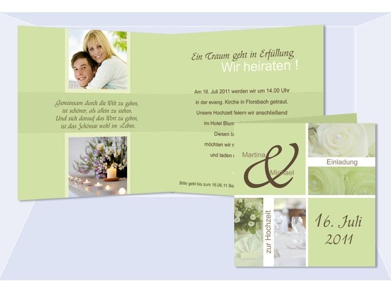 Hochzeitskarte, Hochzeitseinladung, Einladung Hochzeit, Einladung
