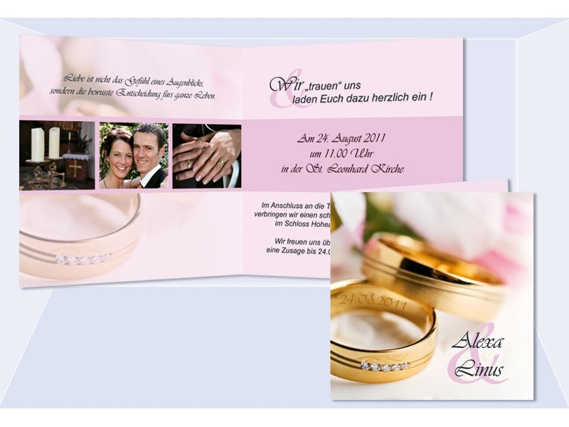Hochzeitskarte Hochzeitseinladung Einladung Einladungskarten